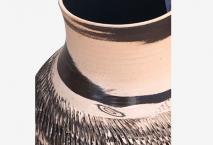 Vase à fleurs en terre mêlées strié 6