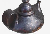 Théière noir bronze