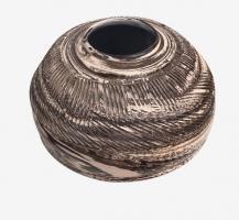 Vase à fleurs en terre mêlées strié 5