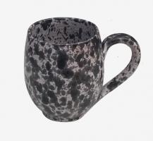 Tasse à café Blanc mouchetée noire 2