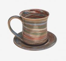 Tasse à thé en terres mêlées