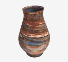 Vase à fleurs en terres mêlées