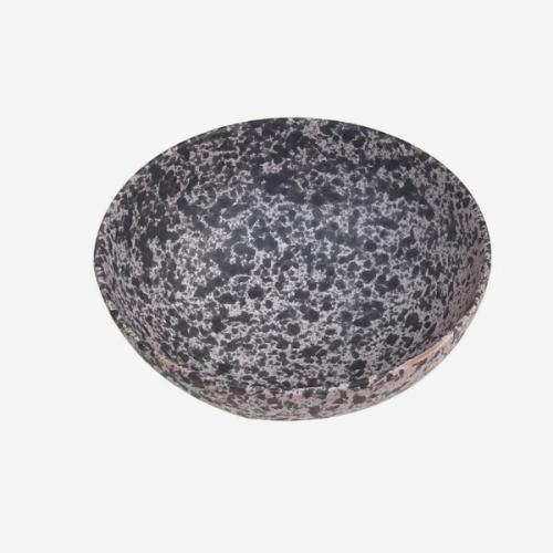 Bol gris perle et noir