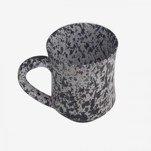 Tasse à café Blanc mouchetée noire