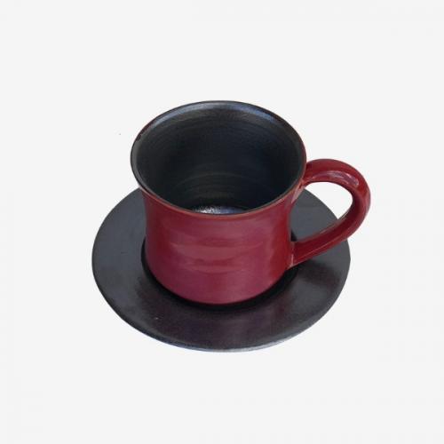 Tasse à café bicolor Rouge-Noire
