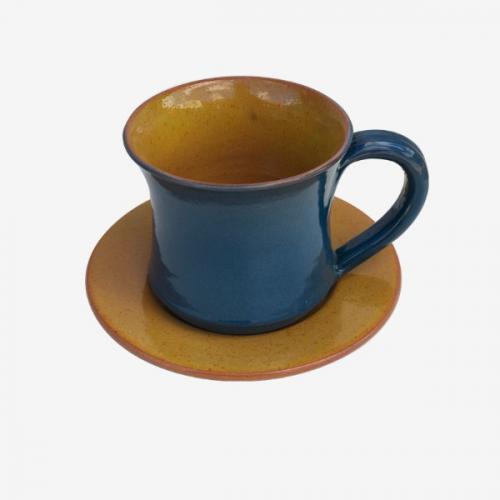 Tasse à café bicolor Jaune-Bleu