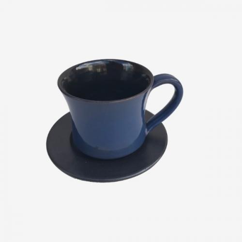 Tasse à café bicolor Bleu-Noire
