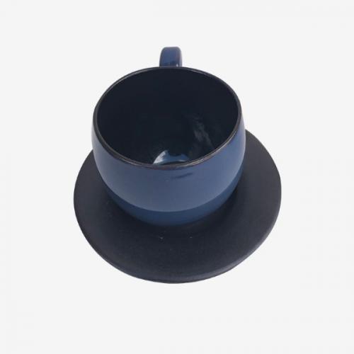Tasse à café bicolor Bleu- Noire